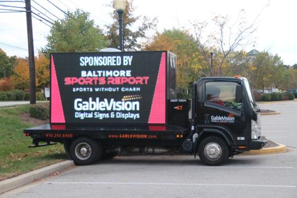 GableVision Truck as BSR's cornhole tournament