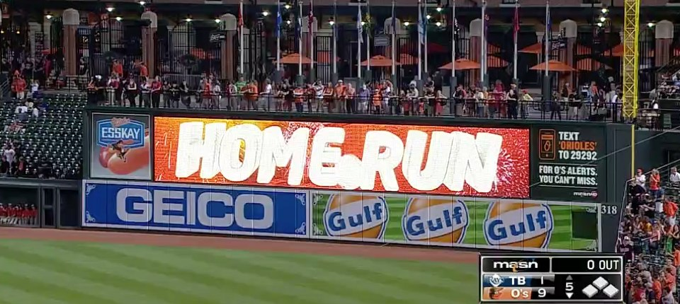 Orioles homers
