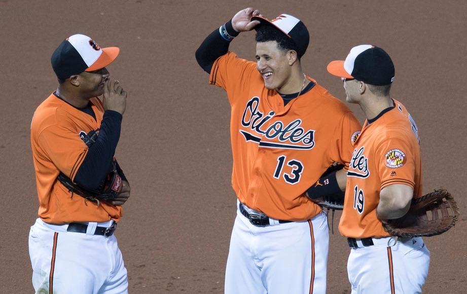 Manny Machado, Jonathan Schoop, Chris Davis - Baltimore Orioles