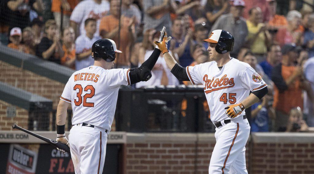 Mark Trumbo and Matt Wieters - Baltimore Orioles