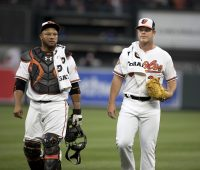 Welington Castillo and Dylan Bundy - Baltimore Orioles