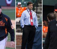 Buck Showalter, Dan Duquette, Brady Anderson - Baltimore Orioles