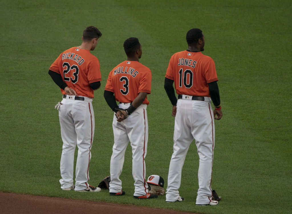 Adam Jones and Cedric Mullins - Baltimore Orioles