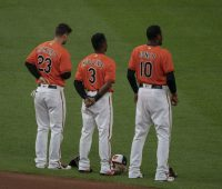 Adam Jones and Cedric Mullins - Baltimore Orioles